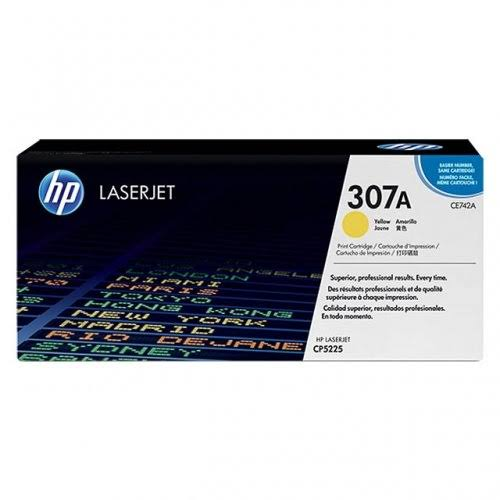 HP LaserJet 4 CE742A HP CE742A Yellow (307A) Toner Cartridge - CE 742A