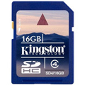 SD4-16GB: Kingston 16GB SDHC (Class 4) High Capacity Secure Digital Card