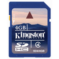 SD4-4GB: Kingston 4GB SDHC (Class 4) High Capacity Secure Digital Card