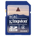 SD4-8GB: Kingston 8GB SDHC (Class 4) High Capacity Secure Digital Card