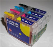 REF715: Refillable REF715 Inkjet Cartridges Quad Pack B/C/M/Y Suitable for Epson T071540
