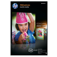 Q8032A: HP Premium Glossy Photo Paper, 4x6in, 100x150mm, 240g/m2, 100 Sheets