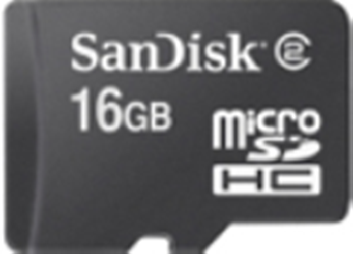 SDSDQM-016G-B35: SanDisk Micro SD Memory Card - 16GB (Card Only)