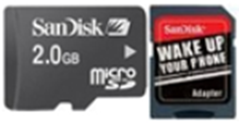 SDSDQB-002G-B35: SanDisk Micro SD Memory Card - 2GB with SD Adapter
