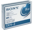 DGD120P: Sony 4mm DDS-2 120m 4/8GB Data Tape Cartridge - DGD 120P