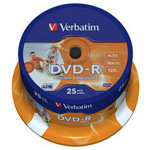 43538: Verbatim DVD-R Pack of 25 Discs, 16x, 4.7GB