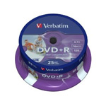 43539: Verbatim DVD+R Pack of 25 Discs, 16x, 4.7GB