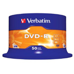 43548: Verbatim DVD-R Pack of 50 Discs, 16x, 4.7GB