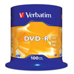 43549: Verbatim DVD-R Pack of 100 Discs, 16x, 4.7GB